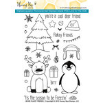 Honey Bee Stamps - Clear Acrylic Stamps - More Flakey Friends