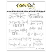Honey Bee Stamps - Clear Acrylic Stamps - For The Record