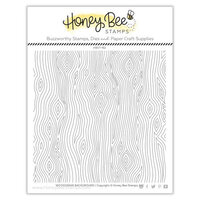 Honey Bee Stamps - Clear Acrylic Stamps - Woodgrain Background