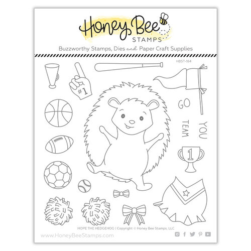 Honey Bee Stamps - Clear Photopolymer Stamps - Hope The Hedgehog