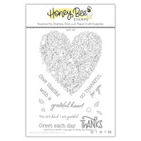 Honey Bee Stamps - Clear Photopolymer Stamps - Grateful Heart