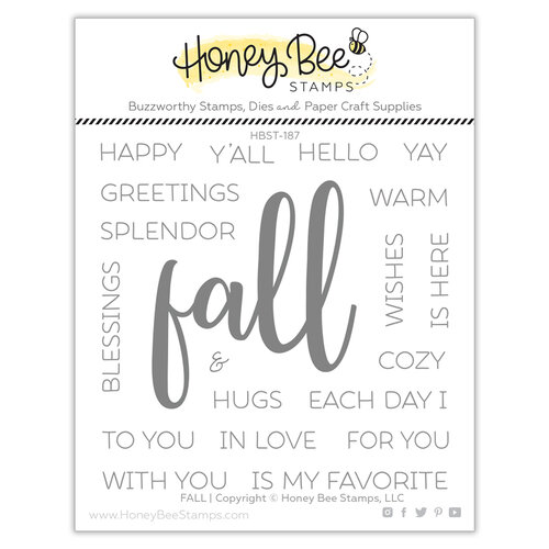 Honey Bee Stamps - Clear Photopolymer Stamps - Fall