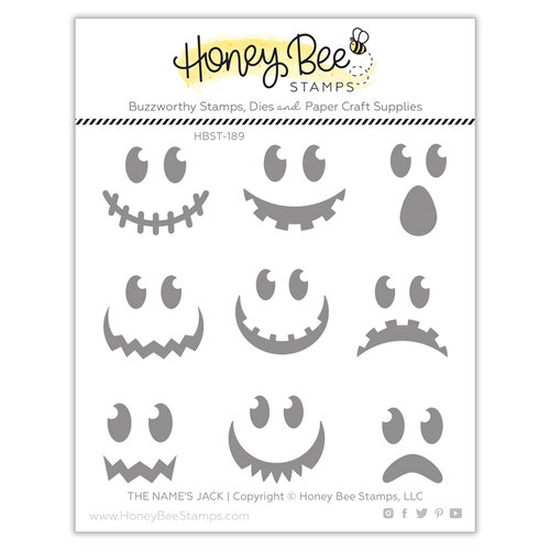 Honey Bee Stamps - Halloween - Clear Photopolymer Stamps - The Name's Jack