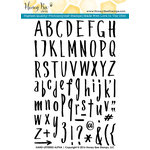 Honey Bee Stamps - Clear Acrylic Stamps - Hand Lettered Alpha