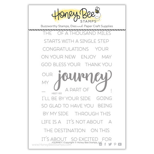 Honey Bee Stamps - Clear Photopolymer Stamps - Journey