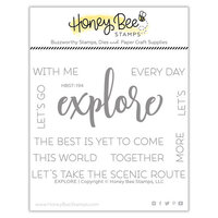 Honey Bee Stamps - Clear Photopolymer Stamps - Explore