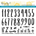 Honey Bee Stamps - Clear Acrylic Stamps - Hand Lettered Numeric