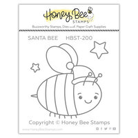 Honey Bee Stamps - Christmas - Clear Photopolymer Stamps - Santa Bee
