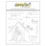 Honey Bee Stamps - Christmas - Clear Photopolymer Stamps - Christ Is Born