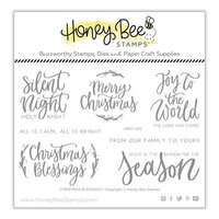 Honey Bee Stamps - Clear Photopolymer Stamps - Christmas Blessings