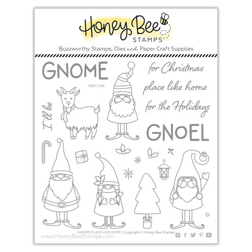 Honey Bee Stamps - Christmas - Clear Photopolymer Stamps - Gnome Place Like Home