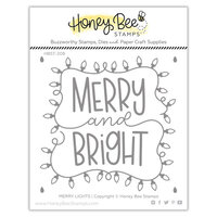Honey Bee Stamps - Christmas - Clear Photopolymer Stamps - Merry Lights