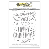Honey Bee Stamps - Clear Photopolymer Stamps - Happy Christmas