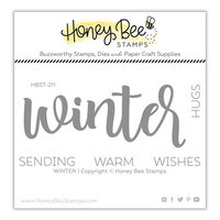 Honey Bee Stamps - Christmas - Clear Photopolymer Stamps - Winter