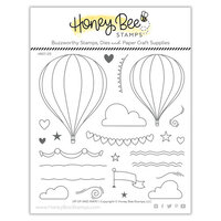 Honey Bee Stamps - Bee Mine Collection - Clear Photopolymer Stamps - Up Up and Away