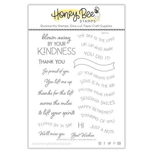 Honey Bee Stamps - Bee Mine Collection - Clear Photopolymer Stamps - Blown Away