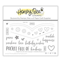 Honey Bee Stamps - Bee Mine Collection - Clear Photopolymer Stamps - Pocket Full of Love