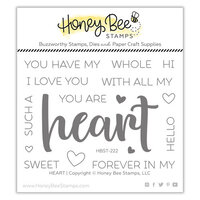 Honey Bee Stamps - Bee Mine Collection - Clear Photopolymer Stamps - Heart