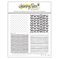 Honey Bee Stamps - Bee Mine Collection - Clear Photopolymer Stamps - Valentine Patterns