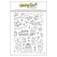 Honey Bee Stamps - Clear Photopolymer Stamps - Happy BEEday