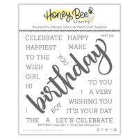 Honey Bee Stamps - Clear Photopolymer Stamps - Birthday