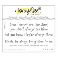 Honey Bee Stamps - Clear Photopolymer Stamps - Good Friends