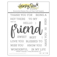 Honey Bee Stamps - Clear Photopolymer Stamps - Friend