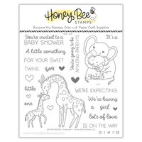 Honey Bee Stamps - Clear Photopolymer Stamps - Safari Babies