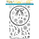 Honey Bee Stamps - Clear Acrylic Stamps - Country Wreath