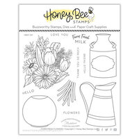 Honey Bee Stamps - Clear Photopolymer Stamps - Farm Fresh Flowers