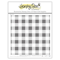 Honey Bee Stamps - Clear Photopolymer Stamps - Buffalo Plaid