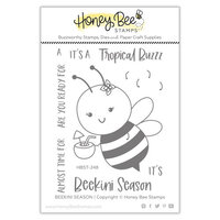 Honey Bee Stamps - Paradise Collection - Clear Photopolymer Stamps - Paradise Collection - BEEkini Season