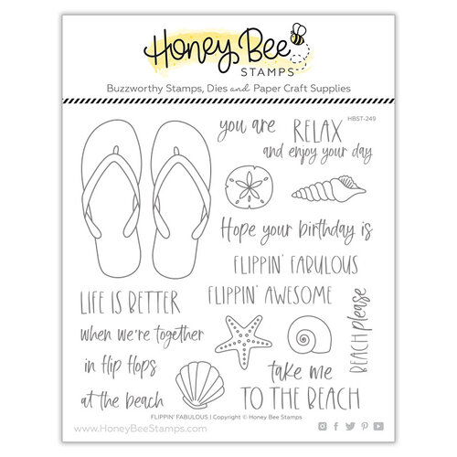 Honey Bee Stamps - Paradise Collection - Clear Photopolymer Stamps - Flippin' Fabulous