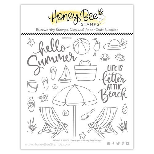 Honey Bee Stamps - Paradise Collection - Clear Photopolymer Stamps - Hello Summer