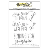Honey Bee Stamps - Paradise Collection - Clear Photopolymer Stamps - Wish You Were Here