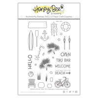 Honey Bee Stamps - Paradise Collection - Clear Photopolymer Stamps - Beach House
