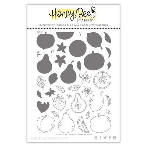 Honey Bee Stamps - Paradise Collection - Clear Photopolymer Stamps - Freshly Pickled