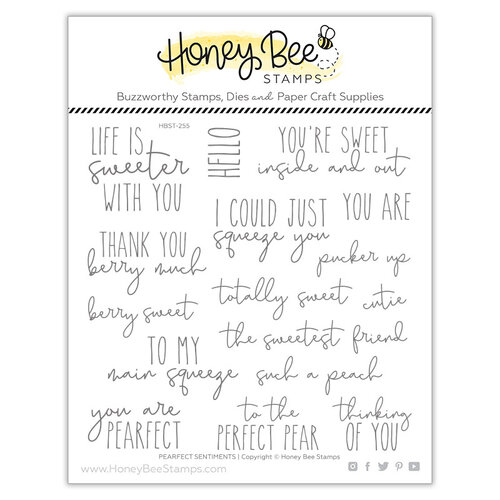 Honey Bee Stamps - Paradise Collection - Clear Photopolymer Stamps - Pearfect Sentiments