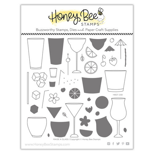 Honey Bee Stamps - Paradise Collection - Clear Photopolymer Stamps - Raise a Glass