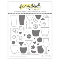 Honey Bee Stamps - Paradise Collection - Clear Photopolymer Stamps - Paradise Collection - Raise a Glass