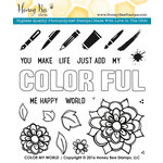 Honey Bee Stamps - Clear Acrylic Stamps - Color My World