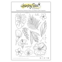 Honey Bee Stamps - Paradise Collection - Clear Photopolymer Stamps - Paradise Blooms