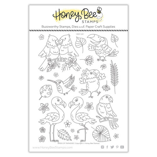 Honey Bee Stamps - Paradise Collection - Clear Photopolymer Stamps - Birds of Paradise