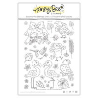 Honey Bee Stamps - Paradise Collection - Clear Photopolymer Stamps - Paradise Collection - Birds of Paradise