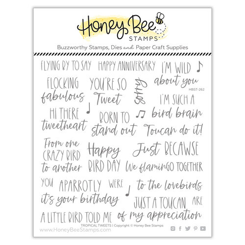 Honey Bee Stamps - Paradise Collection - Clear Photopolymer Stamps - Tropical Tweets