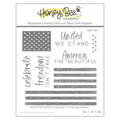 Honey Bee Stamps - Clear Photopolymer Stamps - United We Stand