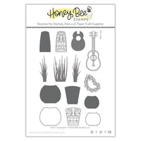 Honey Bee Stamps - Paradise Collection - Clear Photopolymer Stamps - Paradise Collection - Luau