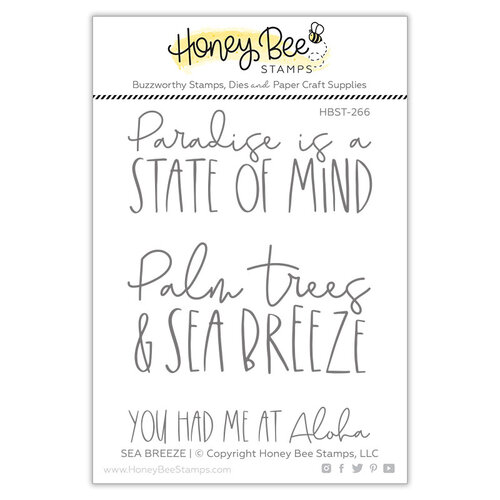 Honey Bee Stamps - Paradise Collection - Clear Photopolymer Stamps - Sea Breeze