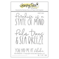 Honey Bee Stamps - Paradise Collection - Clear Photopolymer Stamps - Paradise Collection - Sea Breeze