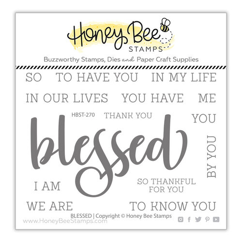 Honey Bee Stamps - Clear Photopolymer Stamps - Blessed Buzzword